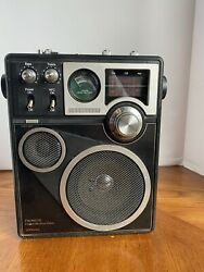 Jc Penney Vintage Instant Weather Am/fm Multiband Portable Radio 680-1940 Tested