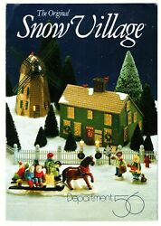 Dept 56 Snow Village Buildings And Accessories Insert Pamphlet 1987 To 1988