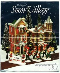 Dept 56 Snow Village Buildings And Accessories Insert Pamphlet 1987-1991