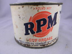 Vintage Rpm Standard Oil Cup Grease Can 1 Pound Empty And Clean