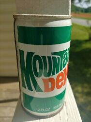 Vintage 1970s Mountain Dew Steel Pull Tab Soda Can