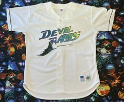 Rare Vintage Russell Athletic Mlb Tampa Bay Devil Rays Baseball Jersey