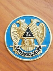 Double-headed Eagle Emblem 32 Spes Mea In Deo Est Scottish Rite Of Freemasonry