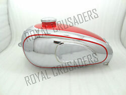 Brand New Horex Regina Red Painted Chromed Petrol Tank With Cap Rep@pummy