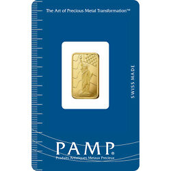 L@@k Pamp 2.5g Gold Bar | Statue Of Liberty | Rare Minted Investment