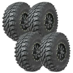 28 Maxxis Rampage Tires 14 System3 Sb4 6+1 Wheels Black Can-am Defender