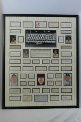 Framed Signed Autograph Photo Collection Of 1951 Champion Ny Yankees Baseball
