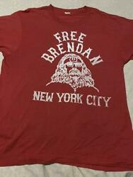 Newyork Hell's Angels Support T Free Brendan 80s Size L Vintage