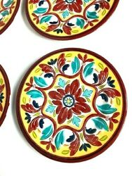 Set Of 4 Bobby Flay Melamine Plates 9 Inch Bright Floral