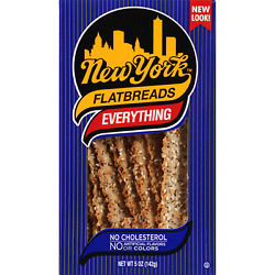 New York All Natural Flatbreads Everything 5 Ounce Pack Of 12