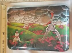 Art Deco Victorian Abstract Made In Italy Imports Mebel Melamine Tip Tray