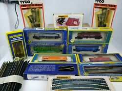 Lot Of Ho Model Ahm Trains Track And Bachmann Power Pack And Accessories