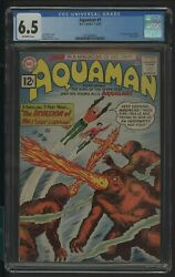 Aquaman 1 Cgc 6.5 1-2/62 1st Appearance Of Quisp Jack Miller Story