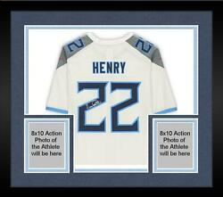 Framed Derrick Henry Tennessee Titans Autographed White Nike Game Jersey