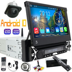Android 10 Single 1 Din In-dash Car Stereo Video 7 Touch Screen Dvd 2+32gb Cam