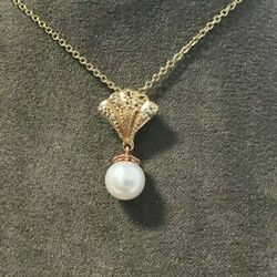 Welsh Clogau Gold 9ct Yellow And Rose Gold Windsor Pearl Pendant £360 Off