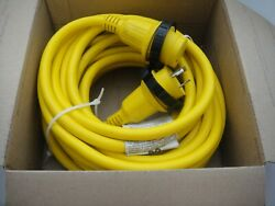 Marinco 30 Amp 125v 50and039 Marine Water Resistant Power Cord Cordset Free Shipping
