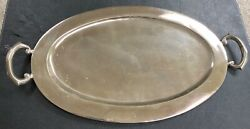Double Handled Sterling Silver Tray Stamped Lys Sterling Mexico 59 Troy Ounces