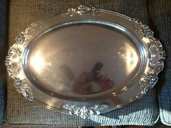 Reed And Barton Francis I Large Sterling Silver Oval Tray Platter 570a 21 1/2