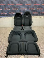 2015 Ford Mustang Gt Oem Black Cloth Recaro Front Rear Seats -one Blown Bag-