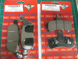 Harley Dyna Softail 2008-17 Lydall Z-plus Racing Front And Rear Brake Pads 2 Set