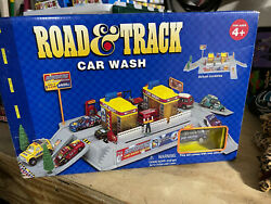 Vintage Road And Track Car Wash Toy Playset For Ages 4+ Sealed Unopened Box