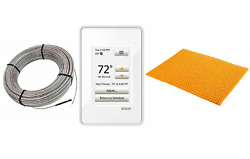 Schluter Ditra Radiant Floor Heating Kit, Programmable Thermostat Membrane Cable