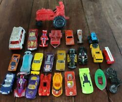Vintage Collectors Car Lot Diecast Matchbox Hot Wheels Tootsie Toy Boat Tractor