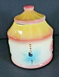Vintage 1940and039s American Bisque Carousel Cookie Jar Cold Painted