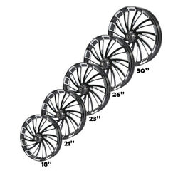 18/21/23/26/30and039and039 Front Wheel Rim Dual/single Hub Fit For Harley Touring 08-21 20