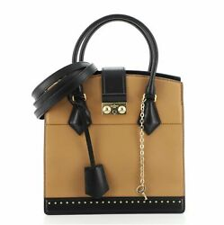 Louis Vuitton Cour Marly Handbag Leather With Studded Detail Pm