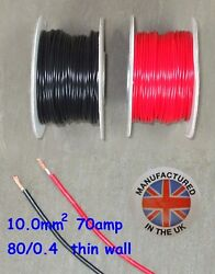 Thin Wall Cable 10.0mmandsup2 7awg 70amp Auto Marine Low Voltage Tw10.0
