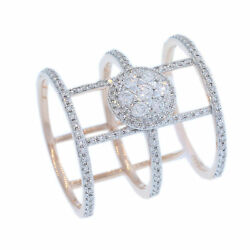Estate 14k Rose Gold Diamond 0.84 Tcw Triple Band Cage Ring By Mylo Designs