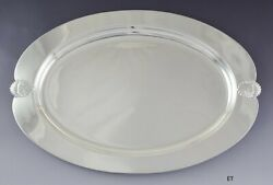 Superb International Sterling Silver Falmouth Oval Serving Tray W413