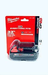 Milwaukee 48-11-1820 18 Volt M18 Red Lithium 2.0 Compact Battery New