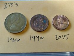 🇧🇸🇧🇸🇧🇸 Bahamas 1 Cent Coins 3 Styles 1966 1990 And 2015 🇧🇸🇧🇸🇧🇸