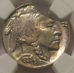 1935 Buffalo Nickel Ngc Ms 66 20 Curved Clip 3257