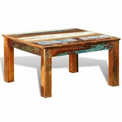 Coffee Table Square Reclaimed Wood Living Room Furniture Tables Antique-style Us