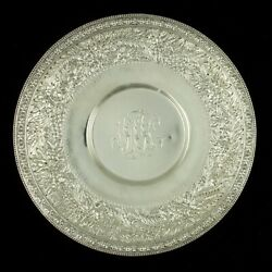 Antique C1880 And Co Repousse Sterling Silver Footed Dish/bowl 7.25