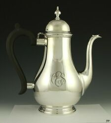 And Co 19th Century Georgian Style Sterling Silver Tall Coffee Tea Pot