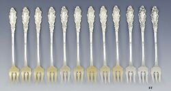 12 Gorham Sterling Silver Luxembourg Cocktail Seafood Forks No Monos 5 3/8