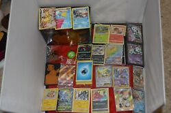 Huge Pokemon Card Lot Energiesv Cardsv Max Cardsgxs And 100+ Extra Cards