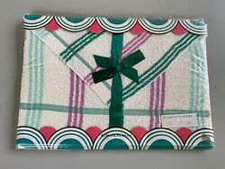 Vintage Cannon Bath Towel And Wash Cloth Gift Set Plaid Unused Nos In Package