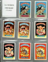 1985 Topps Garbage Pail Kids Uk Mini Series 1 Complete Set With A And B Variations