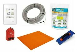 Schluter Ditra Radiant Floor Heating Kit With Thermostat, Membrane, Thermal Pack