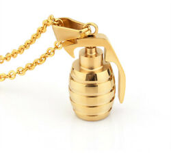 Solid Gold Classic Grenade Pendant With High Polishing Finished Sp34