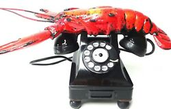 Telephone Red Lobster Bakelite 1937-1955 Dreyfus S300 Usa Collectible