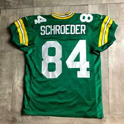 Rare Vintage Bill Schroder 84 Green Bay Packers Nfl Nike Authentic Jersey 48 Xl