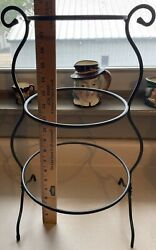 Longaberger Wrought Iron Foundry Collection Mixing Bowl Stand 3 Tier