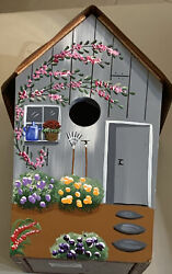 Vintage Bird House. Signed And Dated. 1996. Copper Roof And Painted Wood House.